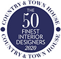Voted top 50 finest interior designs by Country and Town